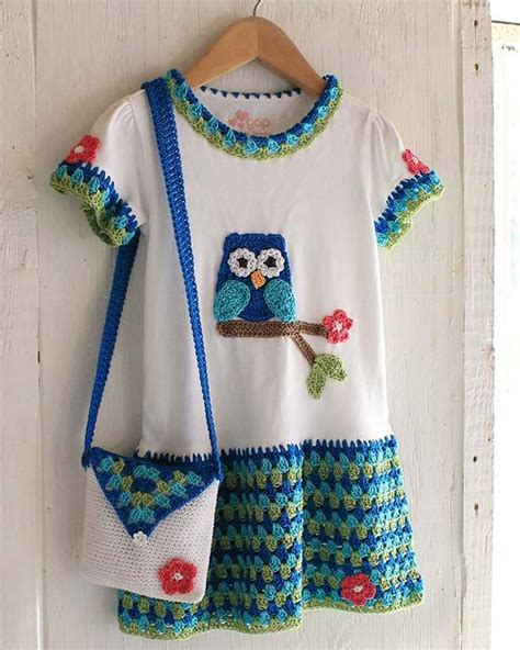 t shirt purse pattern owl t shirt dress hat and purse crochet pattern maggie