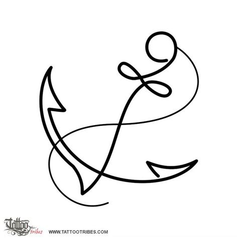 easy tattoo at home simple anchor in marine iconography the anchor is a symbol