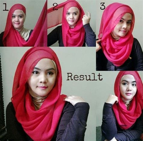 tutorial hijab pesta bahan tile tips cara memakai jilbab pesta simple modern cantik