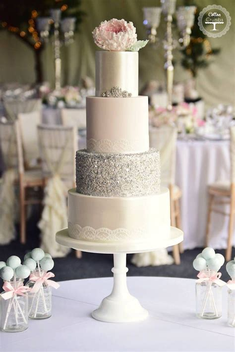 Silver Wedding Cakes by 25 Best Ideas About Silver Wedding Cakes On