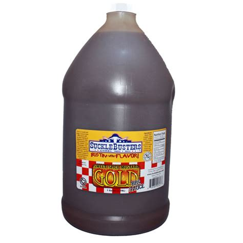 mustard bbq sauce carolina style gallon jug