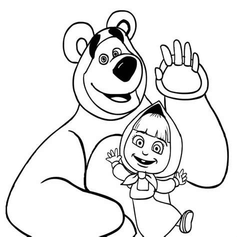 dibujos para colorear animados dibujos para colorear masha y el oso dibujos animados