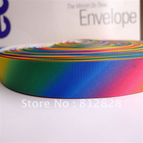 grosgrain ribbon bulk 25 yards 1 25mm sublimation print rainbow color grosgrain ribbon wholesale in ribbons from