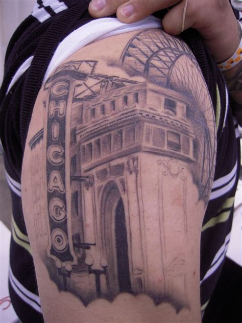 chicago tattoos designs wonderful chicago skyline ideas