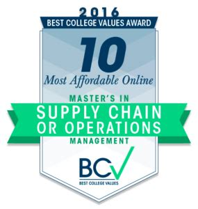 Best Affordable Mba Supply Chain Management 10 most affordable master s degrees in supply chain
