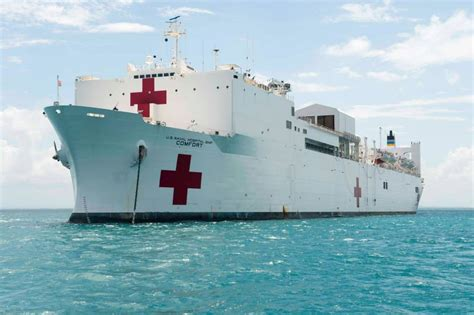 navy hospital ship comfort military hospital ship usns comfort t ah 20 arrived in