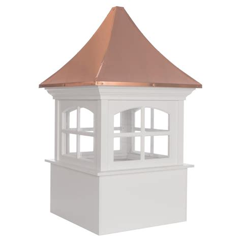 directions westport vinyl cupola with copper roof 48
