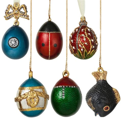 russian imperial miniature egg christmas ornaments