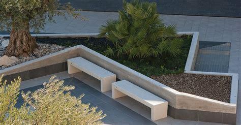 panchine esterno panchina in cemento o pietre preziose di marmo per spazi