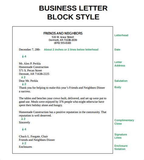 proper business letter block format sle proper letter formats 8 free documents