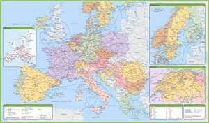 Large Map Of Europe by Maps Of Europe And European Countries Political Maps