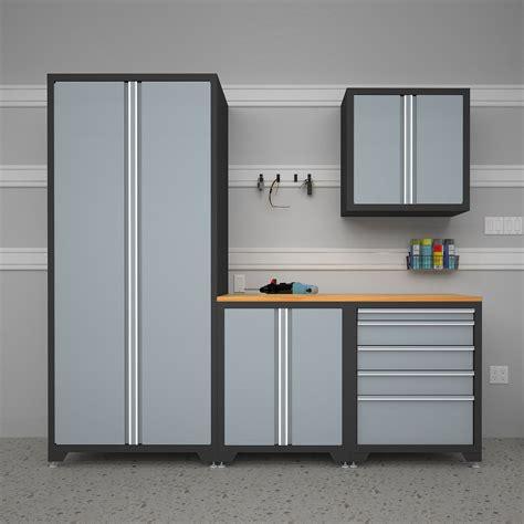 white garage storage cabinets