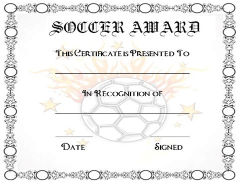 30 Soccer Award Certificate Templates Free To Download Print Demplates Soccer Award Template