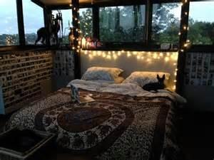 Bed bedroom cool cute dream room girl hippie indie lights