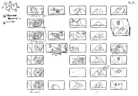 4 Thumbnail Sketches by M Molisee Message Received Thumbnail Sketches