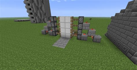 Redstone Doors by Easy 2x4 Redstone Door Minecraft Project