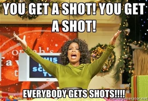Shots Meme tequila shots with oprah and gayle in ibiza