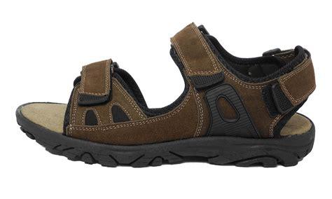wide sandals mens mens leather dr keller wide fit sports velcro hiking