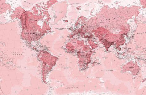 pink world map wallpaper mural murals wallpaper world