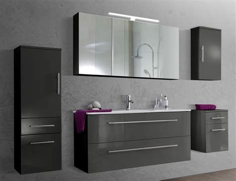 spiegelschrank grau sam 174 5tlg badezimmer set spiegelschrank grau 120 cm