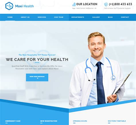 7 Doctor Bootstrap Themes Templates Free Premium Templates Doctor Website Template Free