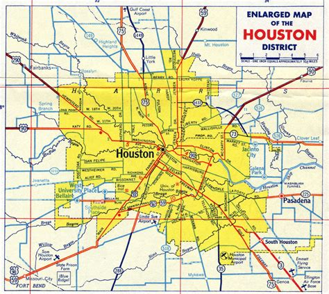 houston texas on the map map of houston tx area images