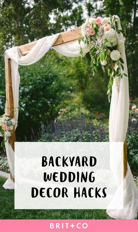 Backyard Elopement Ideas 14 Backyard Wedding Decor Hacks For The Most Insta Worthy