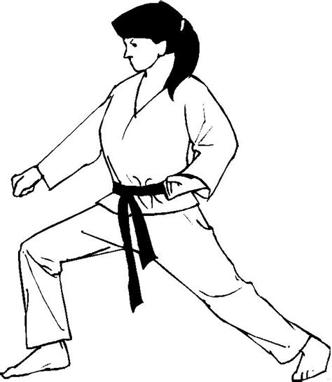 coloring page karate judo coloring pages coloringpages1001