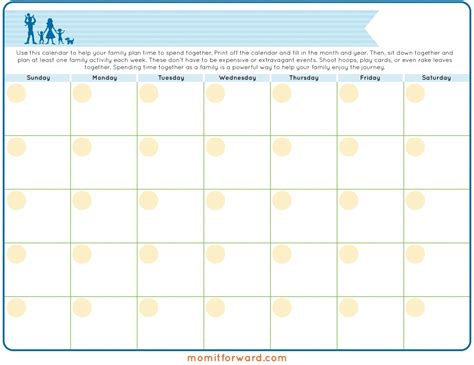 family calendar printable mom it forward