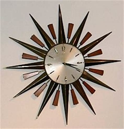 60s clock vintage and main retro collections mid century wall