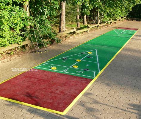 backyard shuffleboard court deluxe 40 foot shuffleboard court