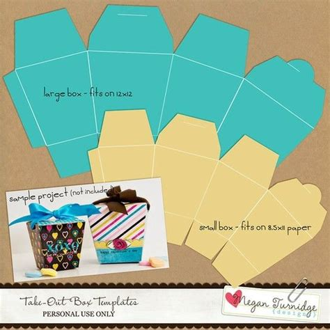 Boxes Out Of Paper - take out box template paper crafts crafting like a