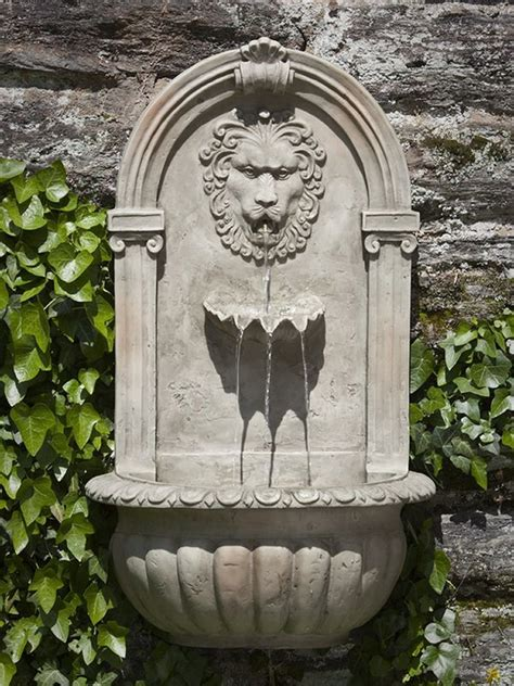 el leon wall fountain garden fountains outdoor wall