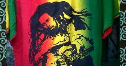 Kaos Rasta Bob Marley denok reggae baju pantai