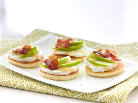 cheese canape recipes goat cheese apple and bacon canapes recipe food network
