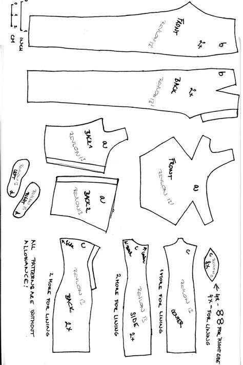 barbie clothes pattern template 132 best patterns for doll clothing images on pinterest