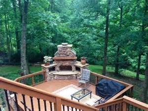 concord outdoor fireplace on low maintenance deck decks