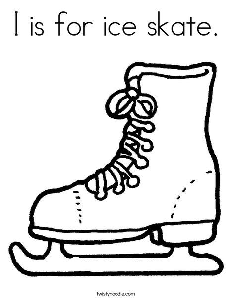 hockey skates coloring pages i is for ice skate coloring page twisty noodle