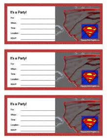 superman birthday card template 6 best images of superman birthday printables