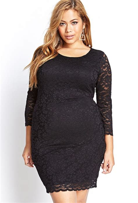 Top Only Big Size Forever 23 the pretty plus plus size fashion black white