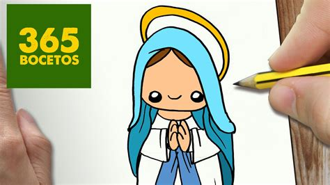 imagenes de la virgen maria faciles como dibujar virgen maria para navidad paso a paso