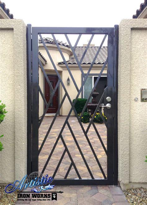wrought iron gates modern entry las vegas by