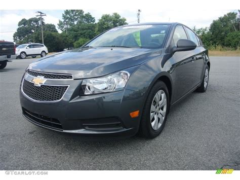 chevy cruze grey cyber gray metallic 2013 chevrolet cruze ls exterior photo