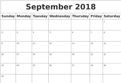 monthly september calendar word calendar september
