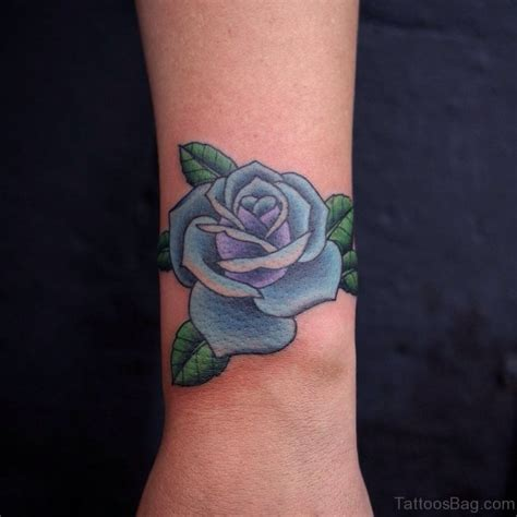 tattoos of blue roses 22 cool blue tattoos on wrist