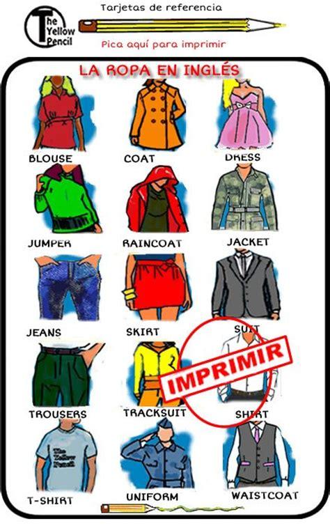 imagenes de ropa en ingles y español ropa en ingles con imagenes imagui