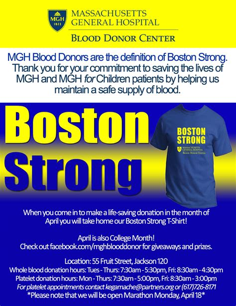 55 fruit boston 02114 mgh blood donors are boston strong 04 04 16