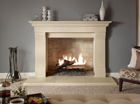 Fabulous White Stone Mantel Fireplace Ideas With Ceramic