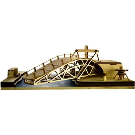 swing bridge model revell 00504 da vinci wood model kit swing bridge