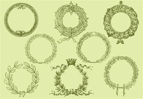 style drawing wreath vectors   vector